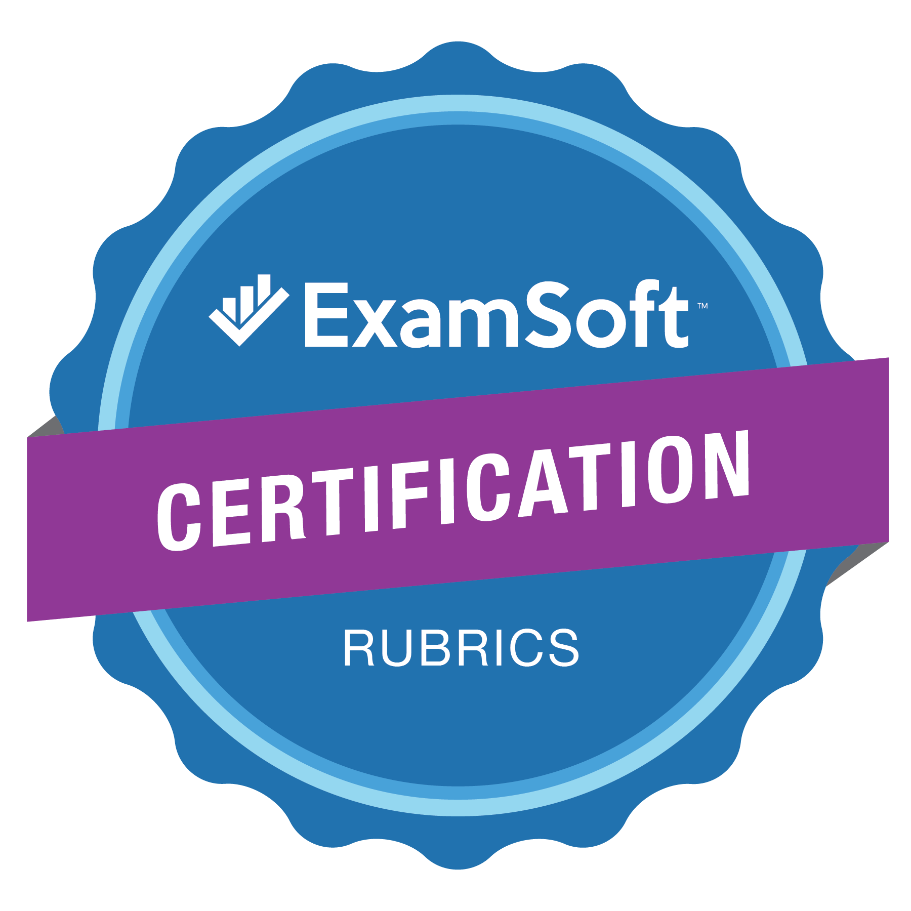 The ExamSoft Certification Rubrics Program Badge