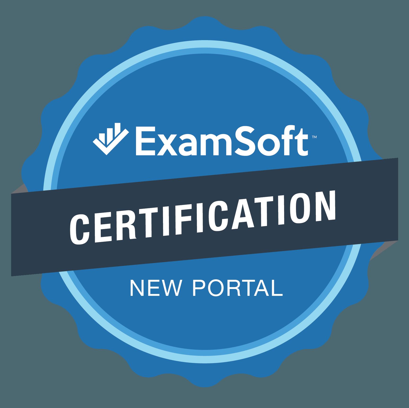 The ExamSoft Certification New Portal Program Badge